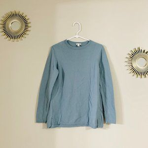 J. Jill Long Sleeve Crew Neck Knit Sweater Blue S